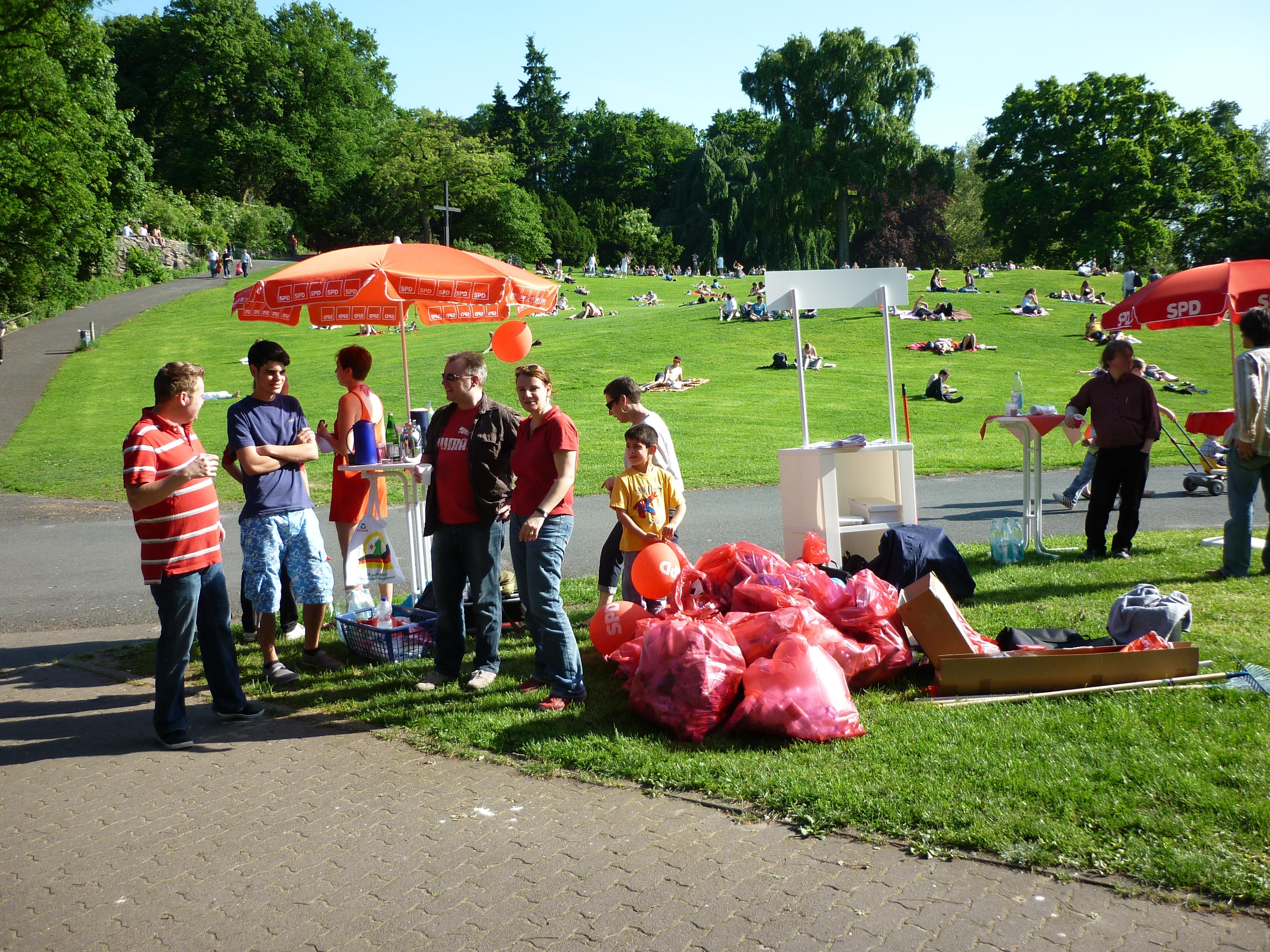Sauberer Viktoriapark