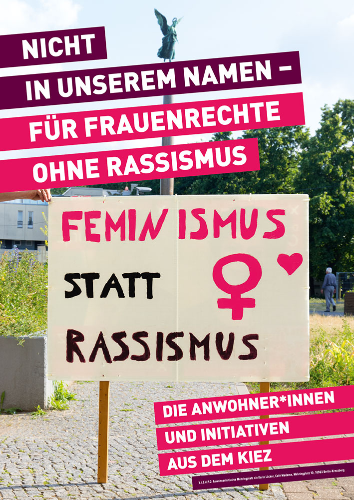 """Kein rechtsextremer """"Marsch der Frauen"""" in Kreuzberg!"""