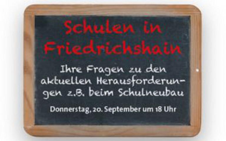 """Veranstaltung """"Schulen in Friedrichshain"""""""