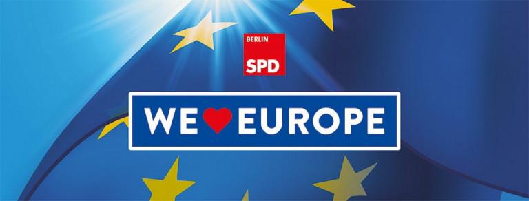 Resolution: WE LOVE EUROPE – Ein solidarisches Europa für die Beschäftigten